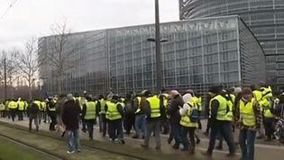 """Des """"gilets jaunes"""" en France, samedi 12 janvier. (CAPTURE D'ÉCRAN FRANCE 3)"""
