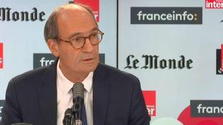 Le député (LR) de l'Oise Eric Woerth dans l'émission Questions politiques sur France Inter, dimanche 15 novembre 2020. (FRANCE INTER)