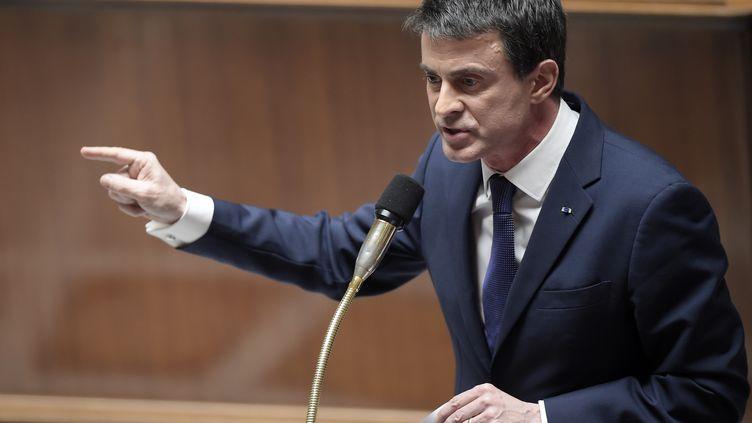 Manuel Valls devant les députés, à l'Assemblée nationale, à Paris,le 31 mars 2015. (LIONEL BONAVENTURE / AFP)