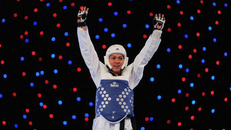 Caroline Graffe après son titre mondial