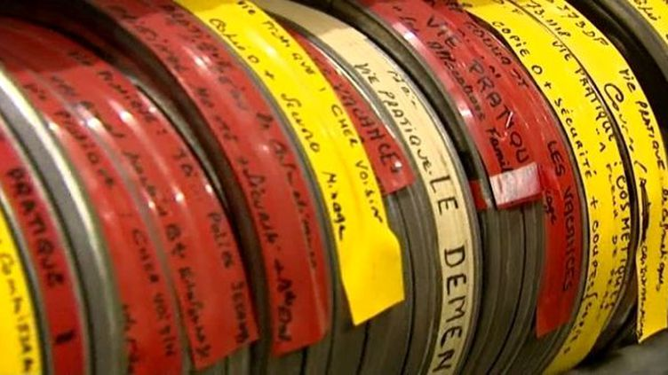 Les boites de bobines de films conservées par l'INA  (France3/Culturebox)