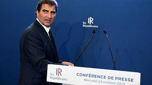 Le président du parti Les Républicains (LR), Christian Jacob, lors d'une conférence de presse à Paris, le 23 octobre 2019. (DOMINIQUE FAGET / AFP)