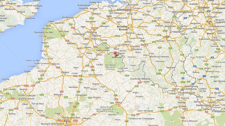 Une fillette de 21 mois est morte d'un éclatement du foie, à Hautmont, dans le Nord, dimanche 15 décembre 2013. (GOOGLE MAPS)