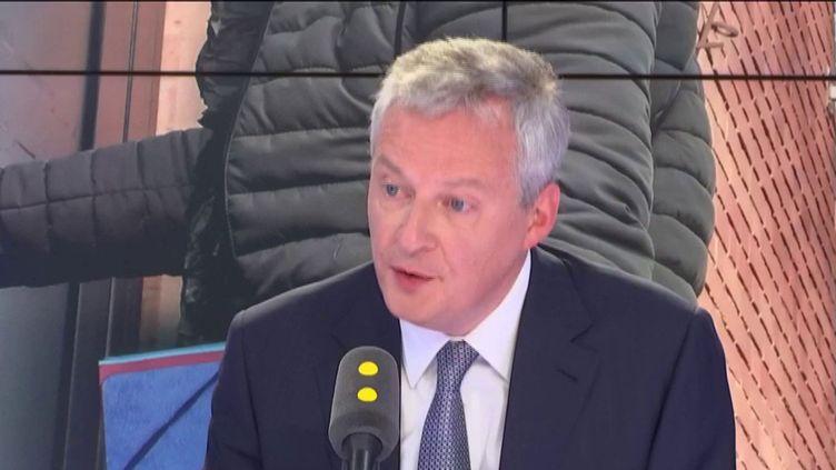 Bruno Le Maire, ministre de l'Economie et des Finances, invité de franceinfo le 9 avril 2019. (FRANCEINFO / RADIOFRANCE)