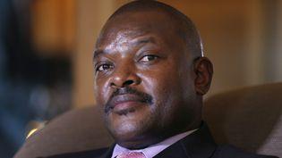 Le président burundais PierreNkurunziza, le 4 juin 2014 à Paris. (FRANCOIS GUILLOT / AFP)