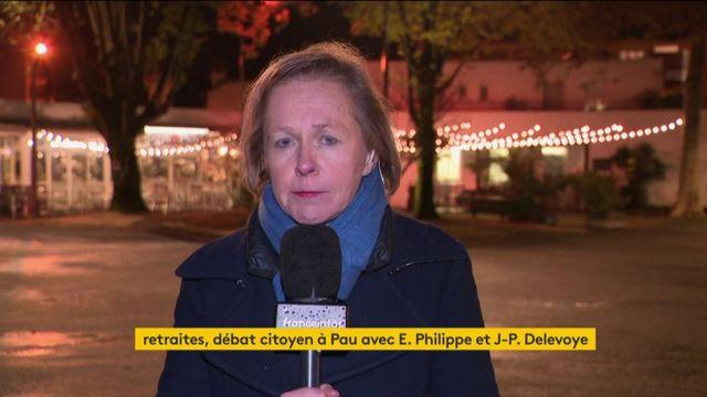 """Retraites : le Premier ministre Edouard Philippe en plein débat """"citoyen"""" à Pau"""