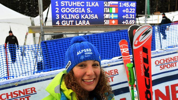La Slovène Ilka Stuhec (MARK RALSTON / AFP)