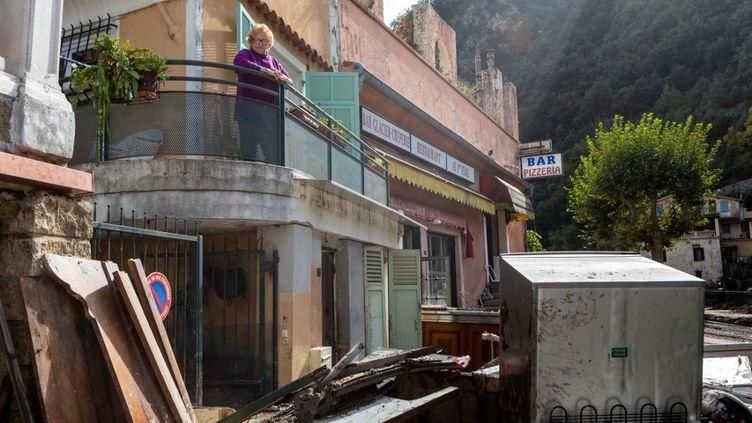 La tempete Alex du 2 octobre 2020 a engendre beaucoup de degats dans la vallee de la Roya (Alpes-Maritimes). (JEF BAECKER / HANS LUCAS / AFP)