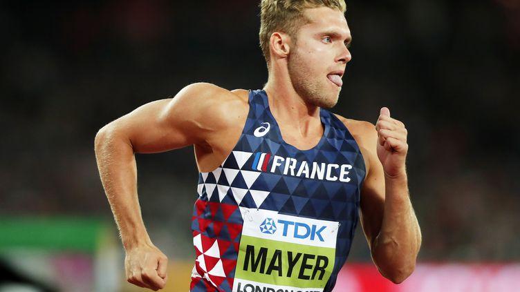 Kevin Mayer pendant les championnats du monde d'athlétisme à Londres, en 2017. (IAN LANGSDON / EPA)