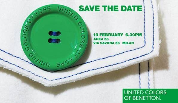 Invitation au défilé Benetton à Milan, février 2019  (Courtesy of Benetton)
