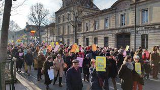 Plusieurs milliers de personnes ont exprimé leur opposition à l'avortement, dimanche 22 janvier 2017 à Paris. (MATHILDE DEHIMI / FRANCE INTER)