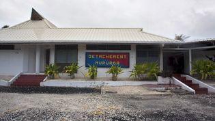 La base Moruroa en Polynésie française, le 13 février 2014. (GREGORY BOISSY / AFP)