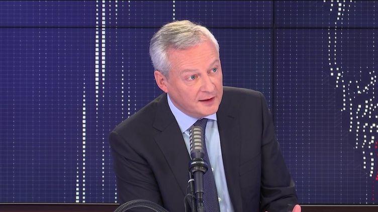 Bruno Le Maire, ministrede l'Economie, le 10 mai 2021 sur franceinfo. (FRANCEINFO / RADIOFRANCE)