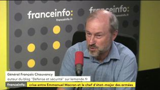 Le général François Chauvancy, bloggeur sur lemonde.fr, le 18 juillet 2017. (FRANCEINFO)