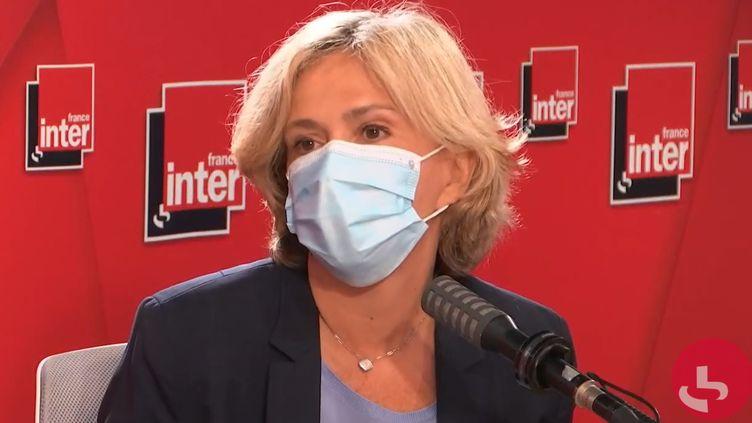 Valérie Pécresse, présidente sortante de la région Île-de-France, candidate à sa réélection, le 22 juin 2021 sur France Inter. (FRANCEINTER / RADIO FRANCE)