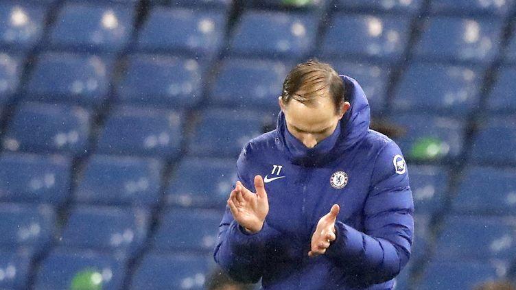 Thomas Tuchel pour sa première avec Chelsea, mercredi 28 janvier (FRANK AUGSTEIN / POOL)