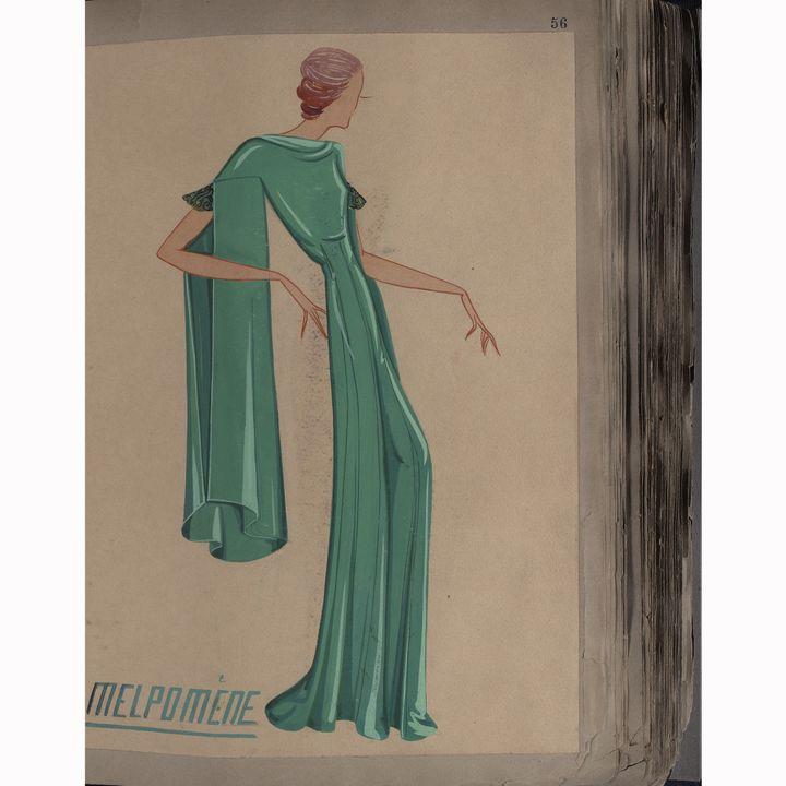 Croquis Lanvin collection hiver 1935  (Courtesy of Lanvin )