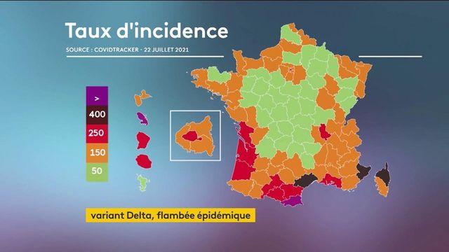 Covid-19 : l'inquiétante flambée du variant Delta en France, plusieurs clusters identifiés