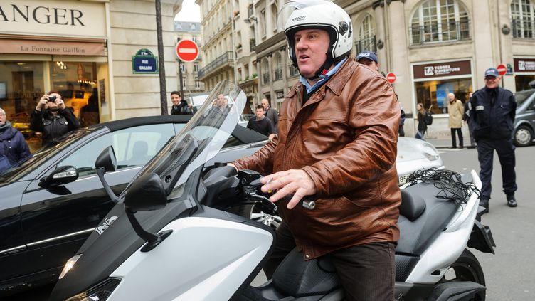 Gérard Depardieu à Paris, le 7 novembre 2012. (MAXPPP)