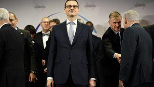 Le Premier ministre polonais,Mateusz Morawiecki, le 14 février 2019 à Varsovie (Pologne). (JAAP ARRIENS / NURPHOTO / AFP)