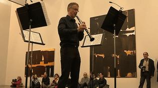Trois fois par an, des musiciens accompagnent les oeuvres de Pierre Soulages.   (Capture d'image Culturebox)
