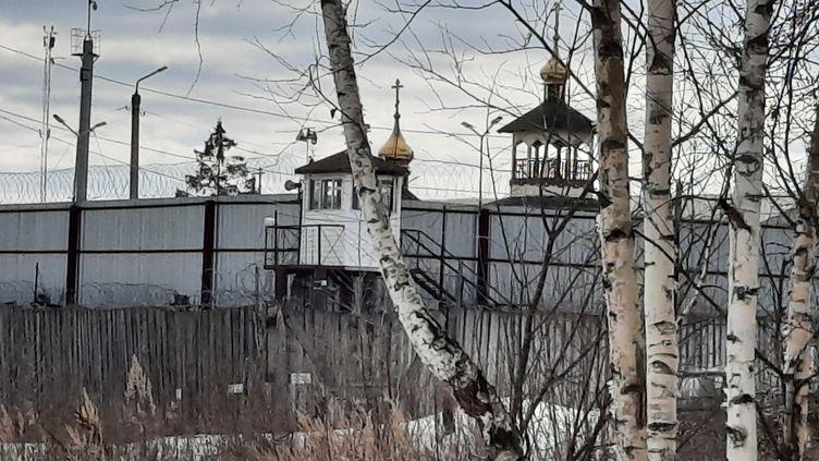 La colonie correctionnelle numéro 2de Pokrov, à 100 km à l'est de Moscou (Russie), où Alexeï Navalny est détenu, en mars 2021. (CLAUDE BRUILLOT / RADIO FRANCE)