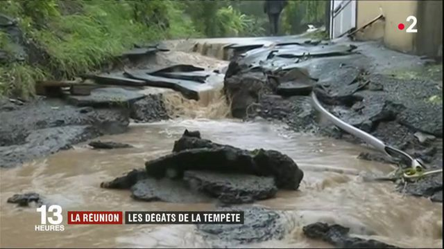 La Réunion : de nombreux dégâts près la tempête tropicale Fakir