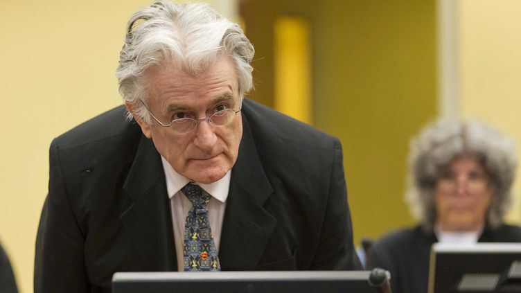 (Radovan Karadzic à La Haye en juillet 2013 © maxPPP)