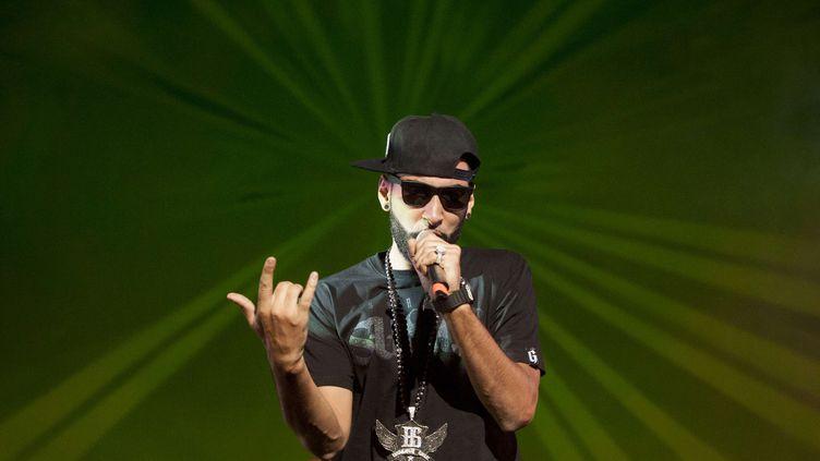 Le rappeur La Fouine en concert à Dakar, au Sénégal, le 9 novembre 2012. (SYLVAIN CHERKAOUI / AP / SIPA)