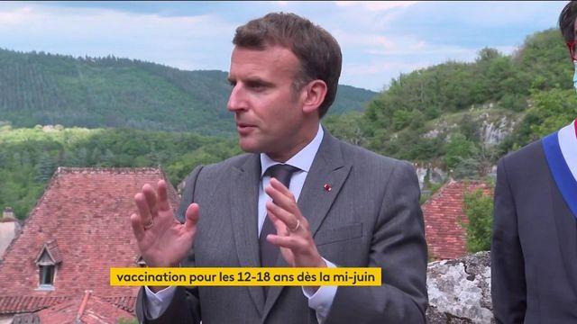 Emmanuel Macron annonce l'ouverture de la vaccination aux 12-18 ans à partir du 15 juin