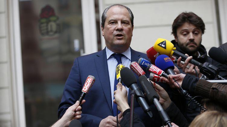Le Premier secrétaire du PS, Jean-Christophe Cambadélis, le 30 mars 2015, à Paris. (THOMAS SAMSON / AFP)