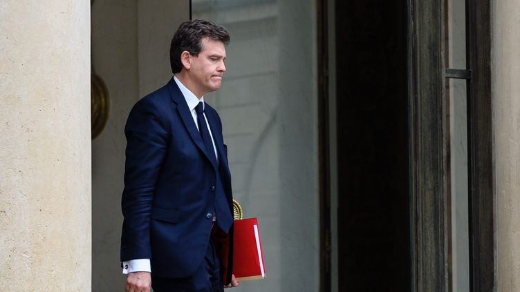 Arnaud Montebourg, ancien ministre de l'Economie,quitte le palais de l'Elysée, le 28 avril 2014. (MAXPPP)