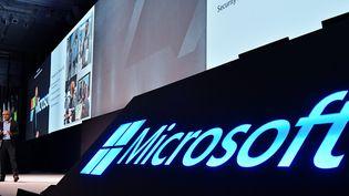"Lors du ""Microsoft Tech Summit"", à Tokyo le 5 novembre 2018 (KEIZO MORI / MAXPPP)"
