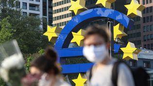 Le siège de la Banque centrale européenne, en Allemagne, le 24 avril 2020. (YANN SCHREIBER / AFP)