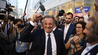 Le président sortant de la région PACA, Renaud Muselier, a été largement réélu face au candidat du Rassemblement national, Thierry Mariani, lors du second tour des élections régionales, dimanche 27 juin. (NICOLAS TUCAT / AFP)