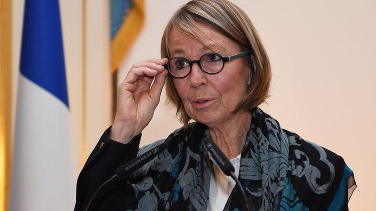 La ministre de la Culture Françoise Nyssen, à Paris, le 23 janvier 2018. (ERIC FEFERBERG / AFP)
