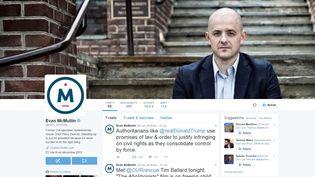 Capture d'écran du compte Twitter de Evan McMullin, candidat à la présidentielle américaine. (EVAN MCMULLIN / TWITTER)