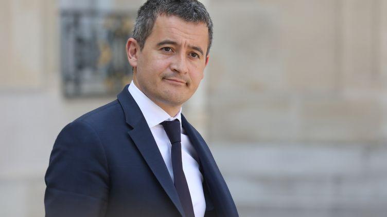 Le ministre de l'Action et des Comptes publics, Gérald Darmanin, le 30 avril 2019 à la sortie du palais de l'Elysée, à Paris. (LUDOVIC MARIN / AFP)