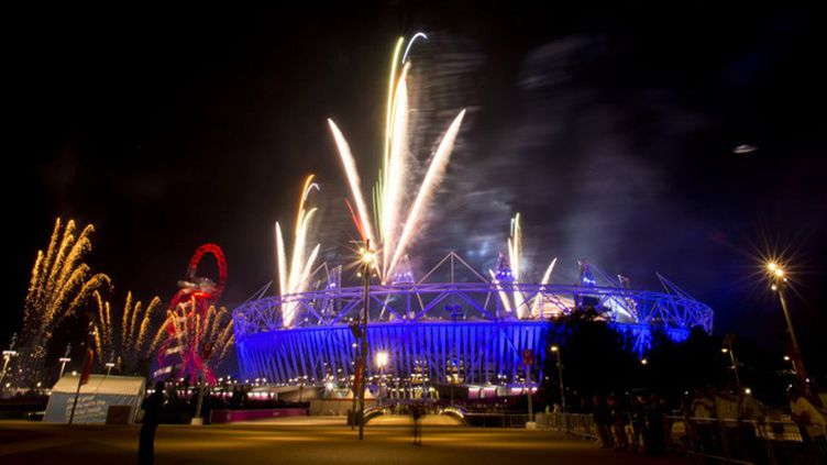Le Stade Olympique pendant les répétitions de la Cérémonie d'Ouverture (JOHANNES EISELE / AFP)