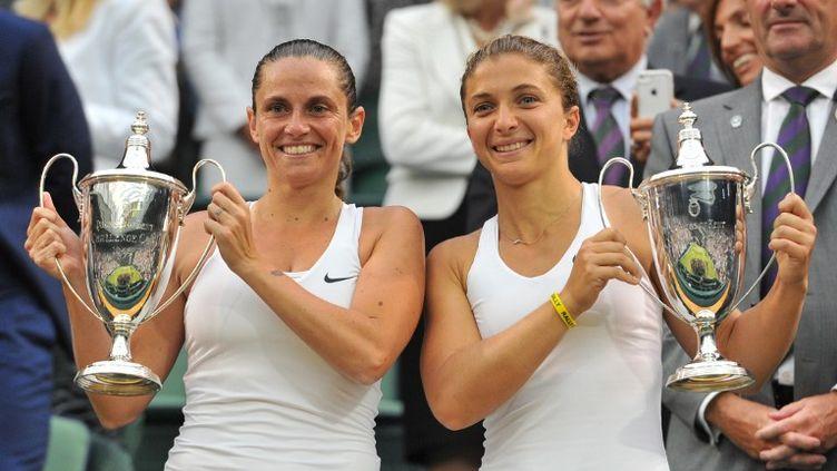 Sara Errani et Roberta  Vinci (GLYN KIRK / AFP)