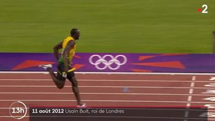Usain Bolt à Londres en 2012. (FRANCE 2)