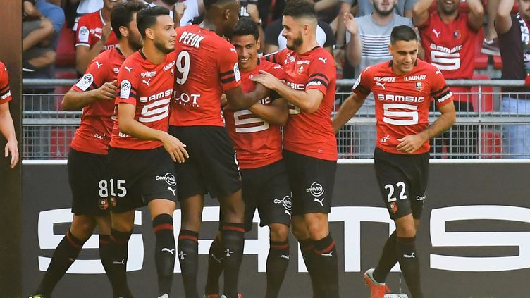 Le Stade Rennais espère enchaîner face à Dijon (LOIC VENANCE / AFP)