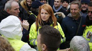 Ingrid Levavasseur sera la tête de liste pour les européennes. (CHARLY TRIBALLEAU / AFP)