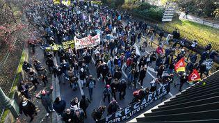 Manifestation à Toulouse, le 5 décembre 2020. (FREDERIC CHARMEUX / MAXPPP)