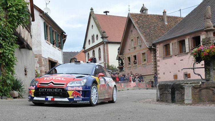 Sébastien Loeb (Citroën) lorsqu'il dominait le Rallye d'Alsace