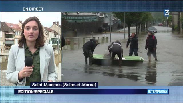Inondations : à Saint-Mammès, la décrue est amorcée
