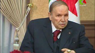 Le président algérien Abdelaziz Bouteflika, dans une vidéo diffusée à la télévision le 11 mars 2019. (CANAL ALGERIE)