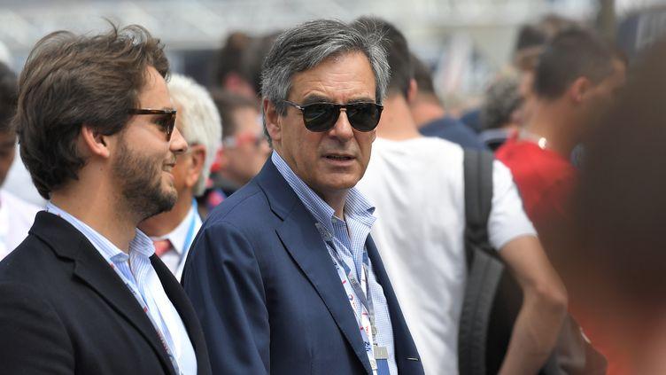 L'ancien candidat à la présidentielle, François Fillon, le 16 juin 2018 au Mans (Sarthe). (LOIC VENANCE / AFP)