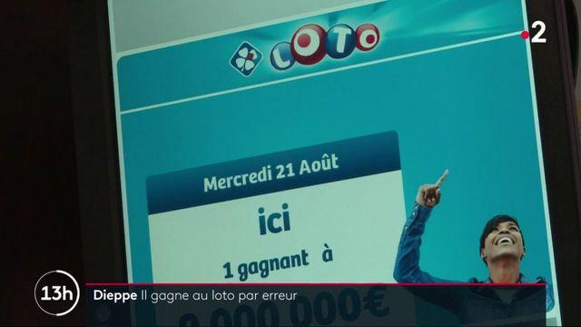 Seine-Maritime : il gagne 9 millions d'euros au Loto par erreur