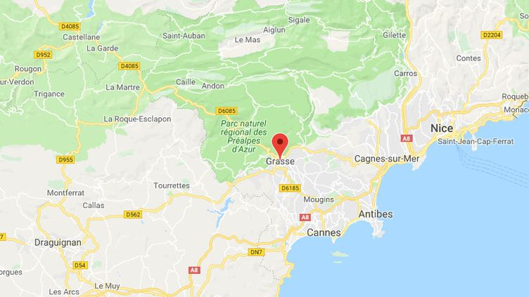La ville de Grasse (Alpes-Maritime). (GOOGLE MAPS)